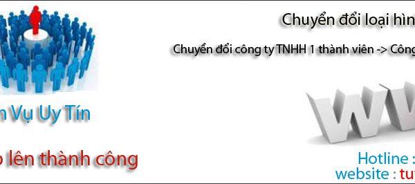 Chuyển đổi công ty TNHH một thành viên thành công ty TNHH hai thành viên