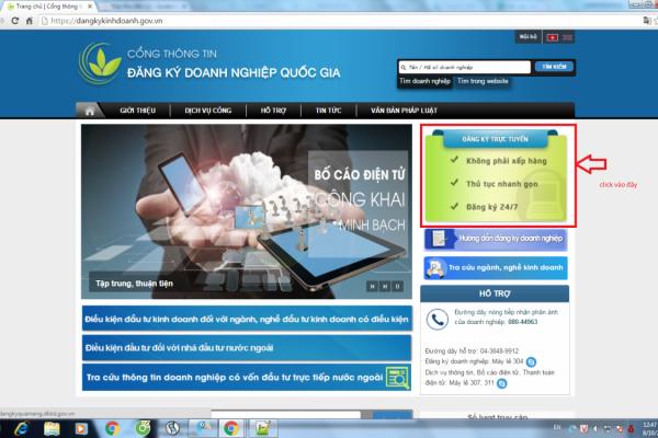 Hướng dẫn đăng ký kinh doanh qua mạng- đăng ký doanh nghiệp trực tuyến