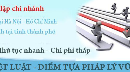 Thành lập chi nhánh công ty HCM