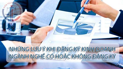 Những trường hợp hoạt động kinh doanh phải đăng ký và không phải đăng ký