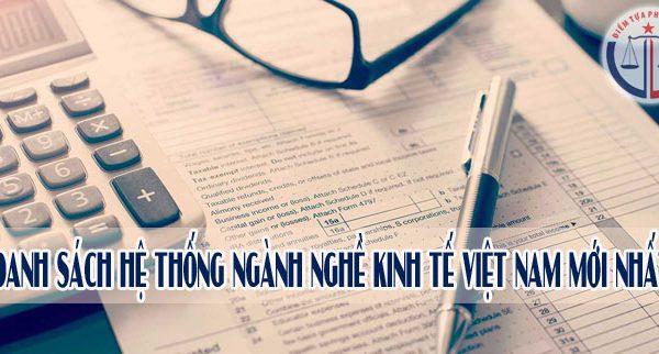 Hệ thống ngành kinh tế Việt Nam mới nhất hiện nay