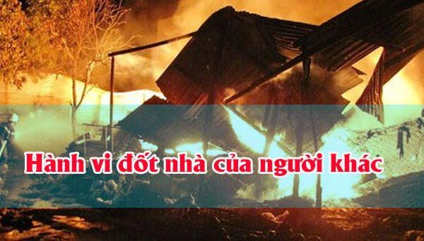 Hành vi đốt nhà của người khác