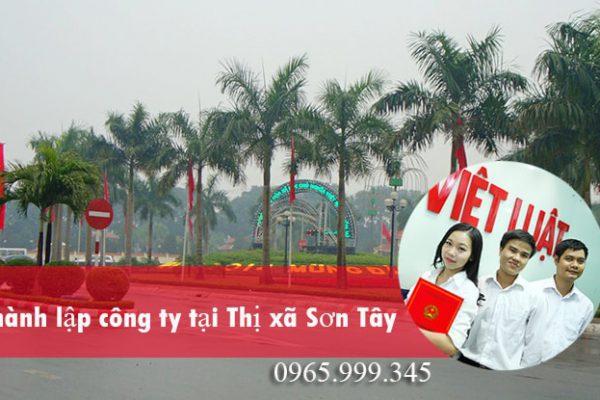 Thành lập công ty tại Thị xã Sơn Tây