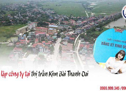 Thành lập công ty tại thị trấn Kim Bài Thanh Oai