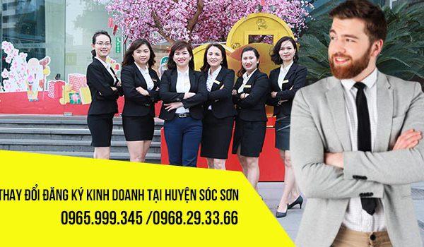 Thay đổi đăng ký kinh doanh tại huyện Sóc Sơn