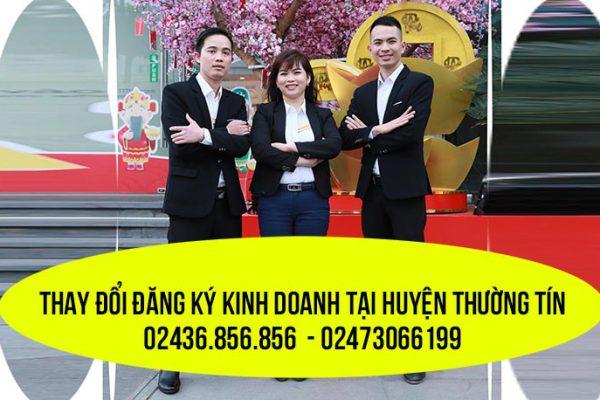 Thay đổi đăng ký kinh doanh tại huyện Thường Tín
