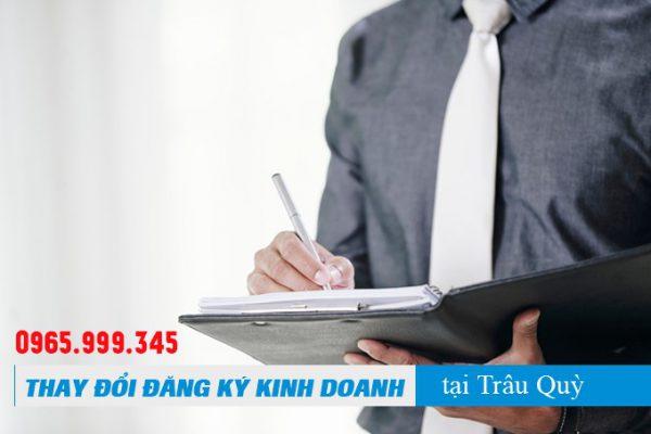 Thay đổi đăng ký kinh doanh tại Thị trấn Trâu Quỳ