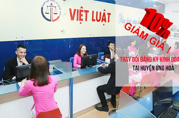 Thay đổi đăng ký kinh doanh tại huyện Ứng Hoà