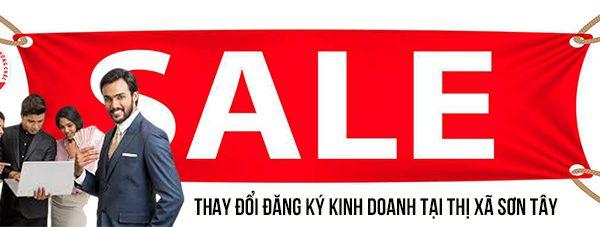 Thay đổi đăng ký kinh doanh tại Thị xã Sơn Tây