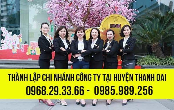 Thành lập chi nhánh công ty tại huyện Thanh Oai