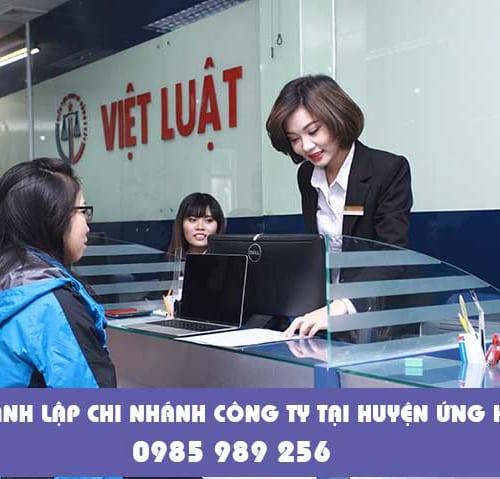 Thành lập chi nhánh công ty tại huyện Ứng Hòa