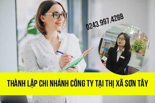 Thành lập chi nhánh công ty tại Thị xã Sơn Tây