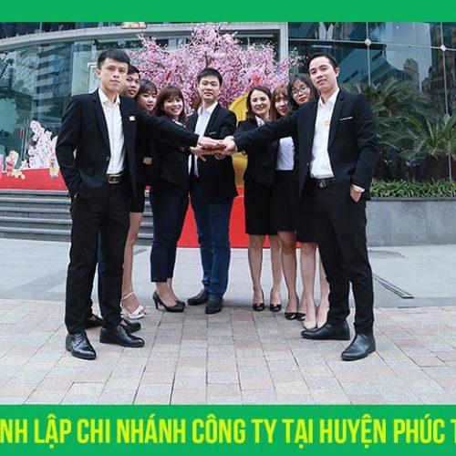 Thành lập chi nhánh công ty tại huyện Phúc Thọ