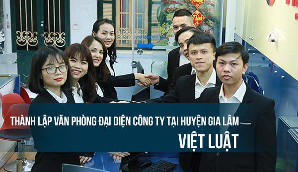 Thành lập văn phòng đại diện công ty tại huyện Gia Lâm