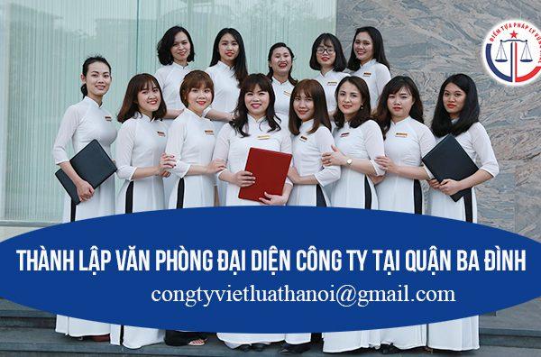 Thành lập văn phòng đại diện công ty tại quận Ba Đình