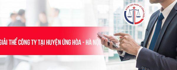 Giải thể công ty tại huyện Ứng Hòa