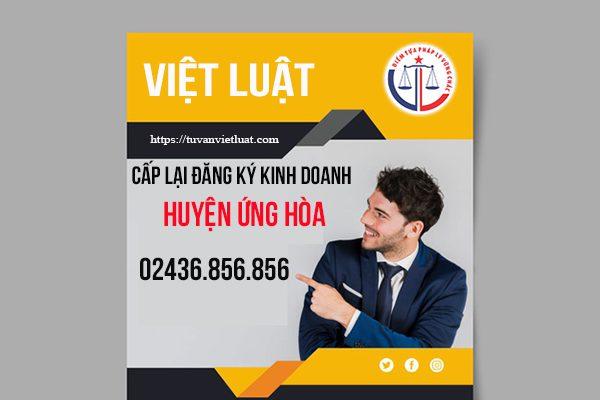 Cấp lại đăng ký kinh doanh huyện Ứng Hòa