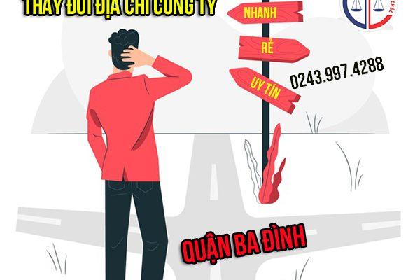 Thay đổi địa chỉ công ty tại quận Ba Đình