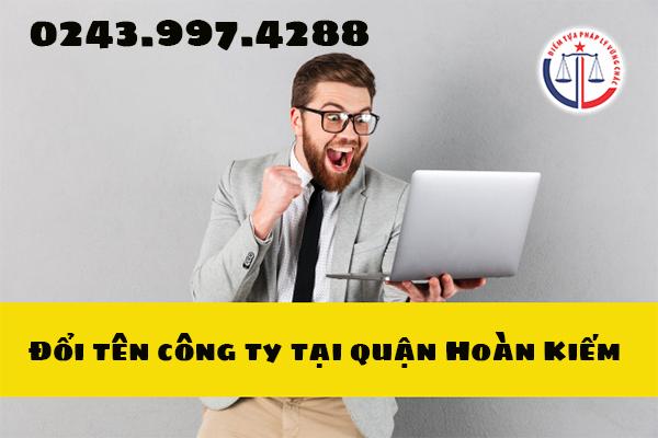 Thay đổi tên công ty tại quận Hoàn Kiếm