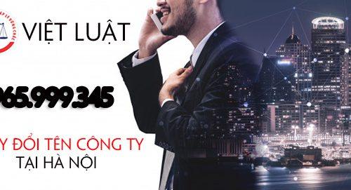 Thay đổi tên công ty tại Hà Nội