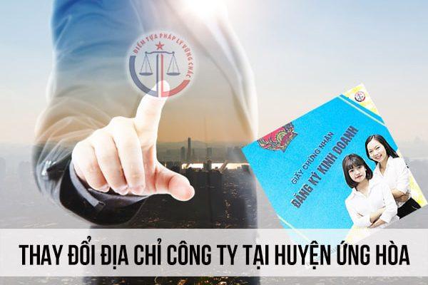 Thay đổi địa chỉ công ty tại Huyện Ứng Hòa