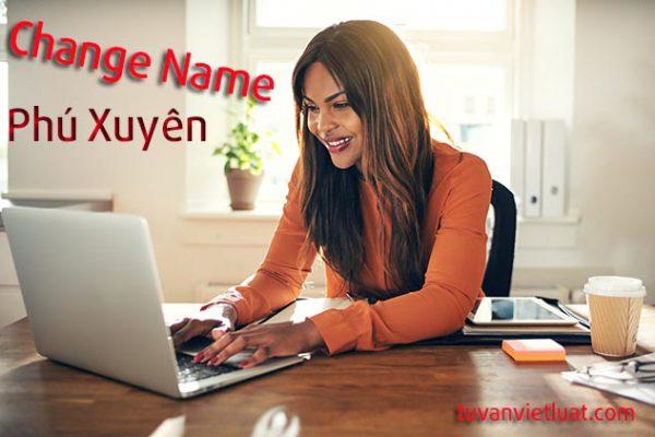 Thay đổi tên công ty Huyện Phú Xuyên