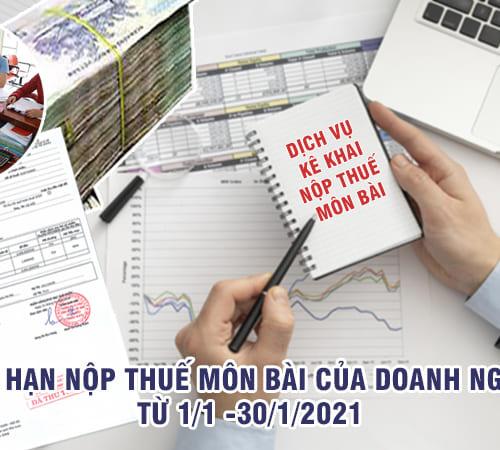 Thuế môn bài là gì? Thời hạn nộp thuế môn bài của doanh nghiệp