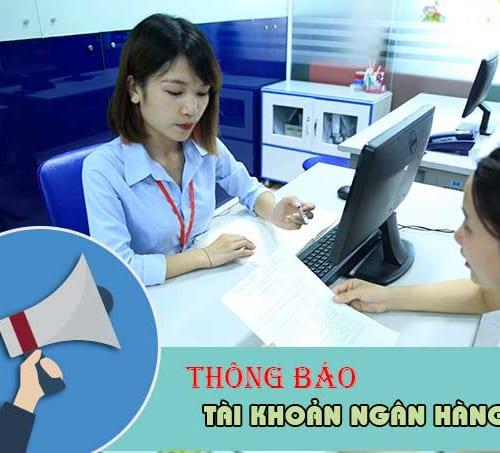Thông báo tài khoản ngân hàng lên cơ quan thuế